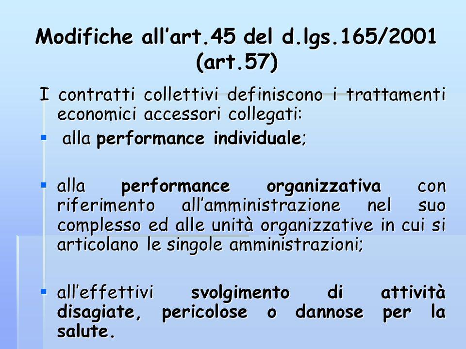 Modifiche all'art.45 del d.lgs.165/2001 (art.57)