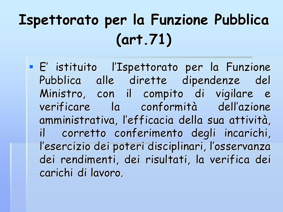 Ispettorato per la Funzione Pubblica (art.71)