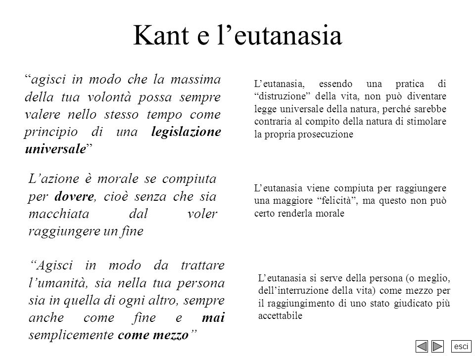 Kant e l'eutanasia