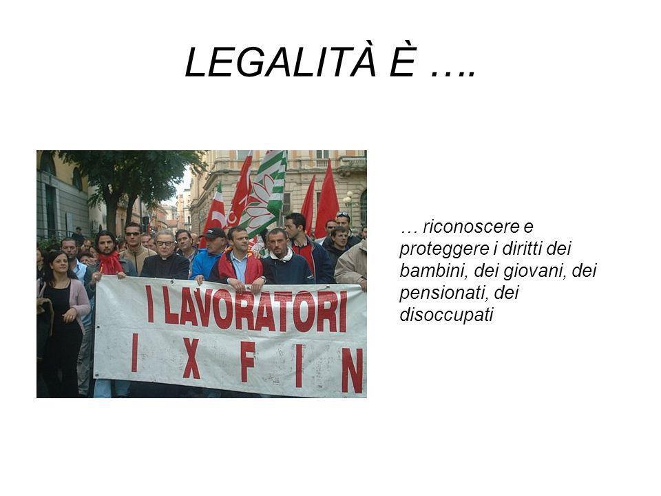 LEGALITÀ È ….