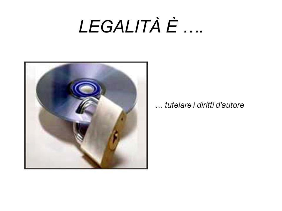 LEGALITÀ È …. … tutelare i diritti d autore