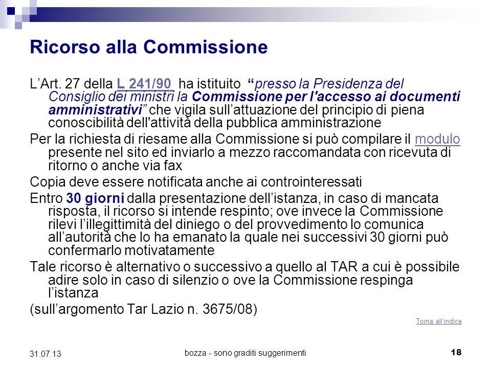 Ricorso alla Commissione