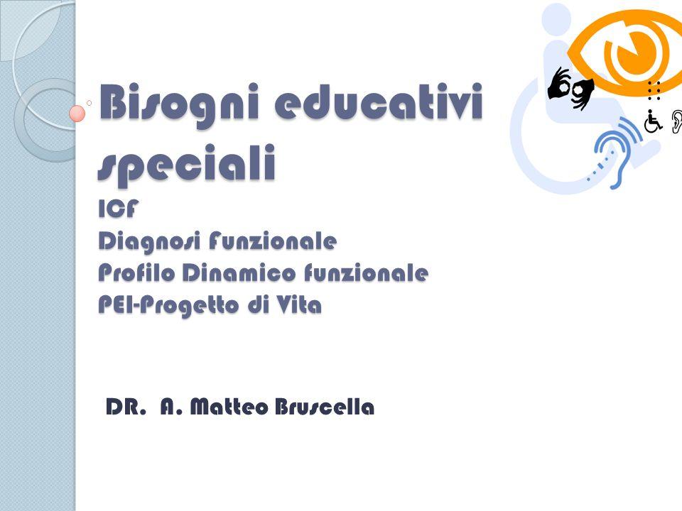 Bisogni educativi speciali ICF Diagnosi Funzionale Profilo Dinamico funzionale PEI-Progetto di Vita
