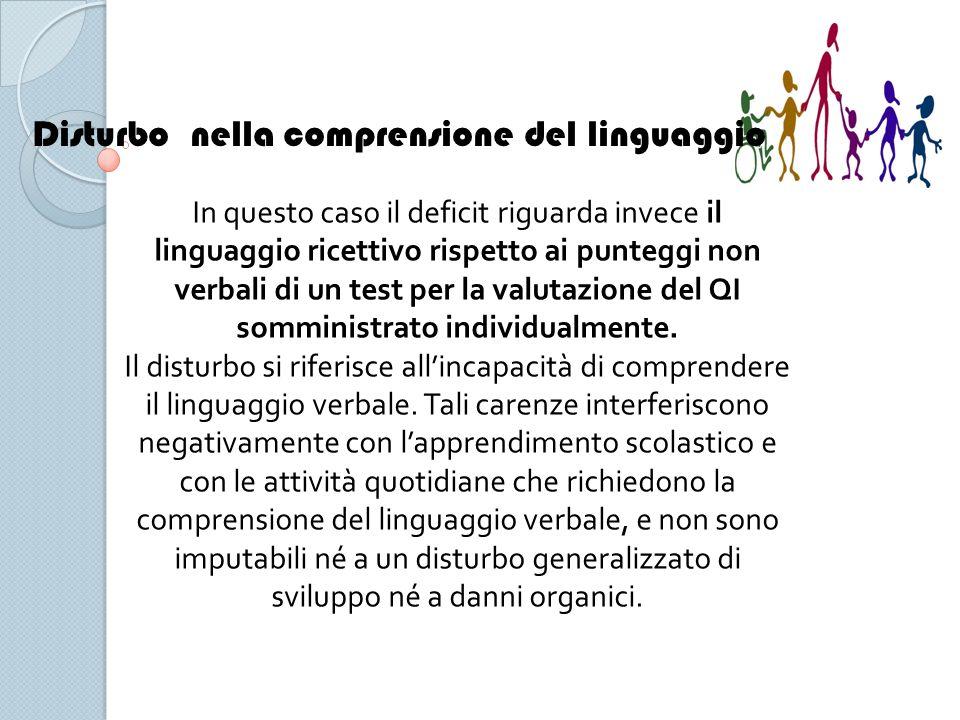 Disturbo nella comprensione del linguaggio