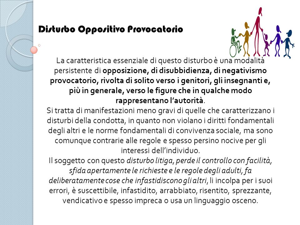Disturbo Oppositivo Provocatorio