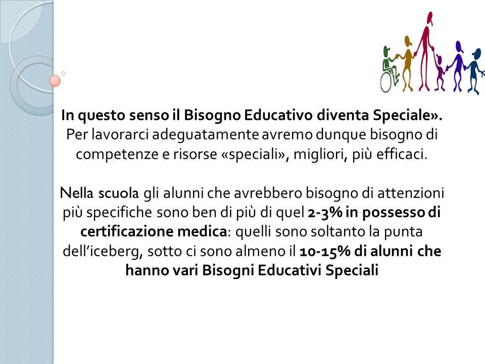 In questo senso il Bisogno Educativo diventa Speciale».