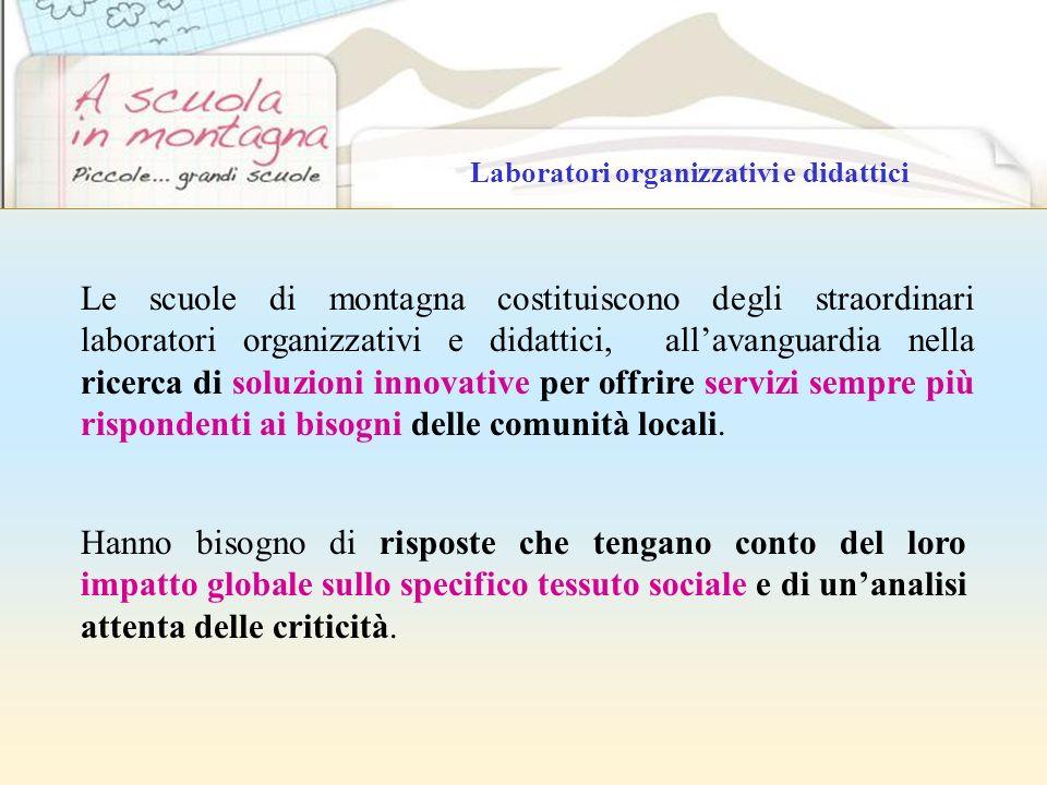 Laboratori organizzativi e didattici