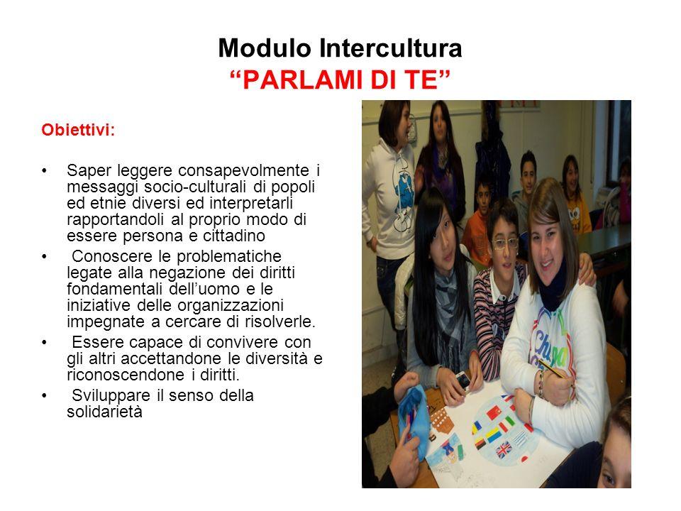 Modulo Intercultura PARLAMI DI TE