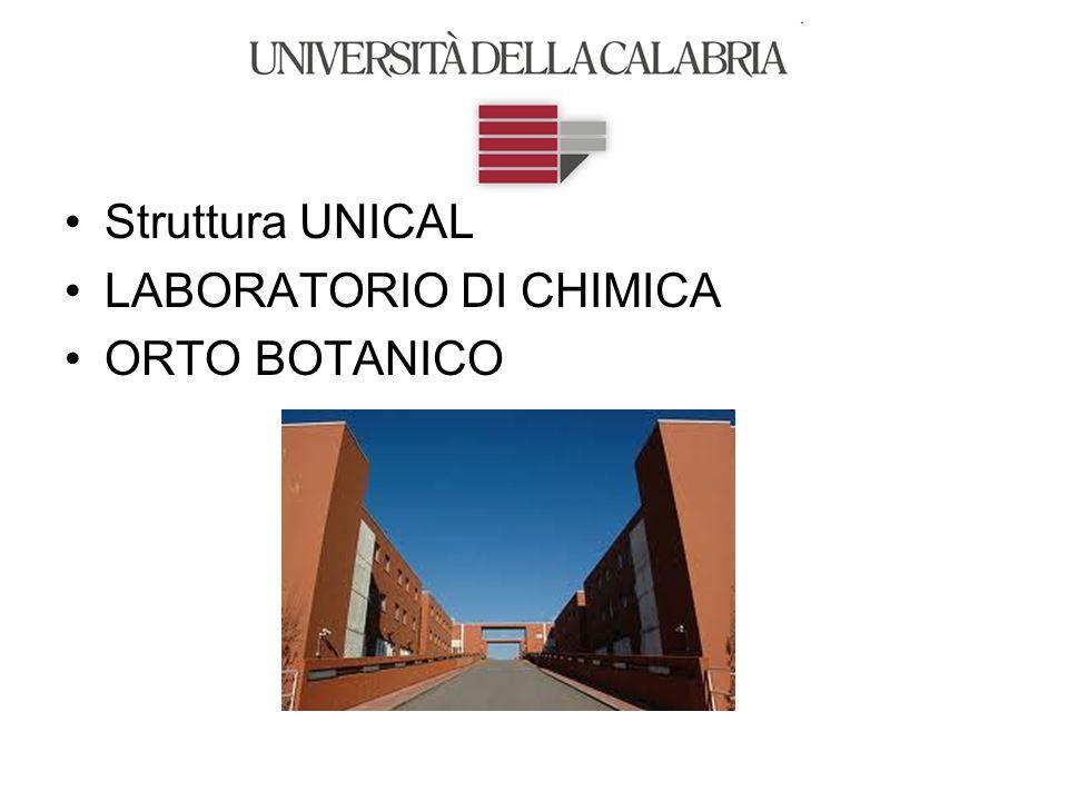 Struttura UNICAL LABORATORIO DI CHIMICA ORTO BOTANICO