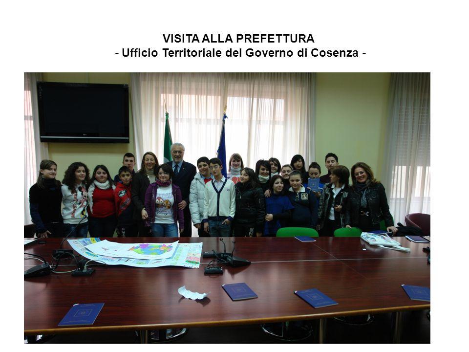 VISITA ALLA PREFETTURA - Ufficio Territoriale del Governo di Cosenza -