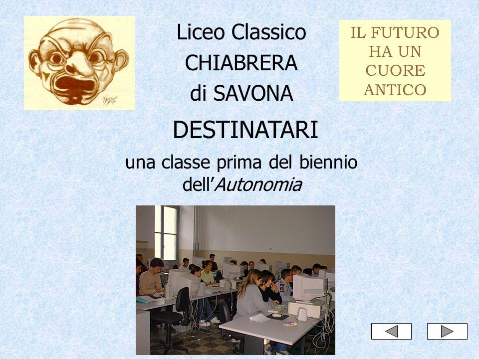 DESTINATARI Liceo Classico CHIABRERA di SAVONA