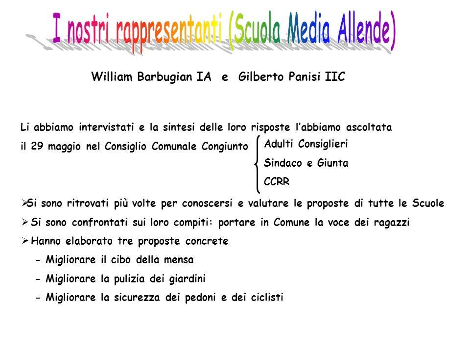I nostri rappresentanti (Scuola Media Allende)