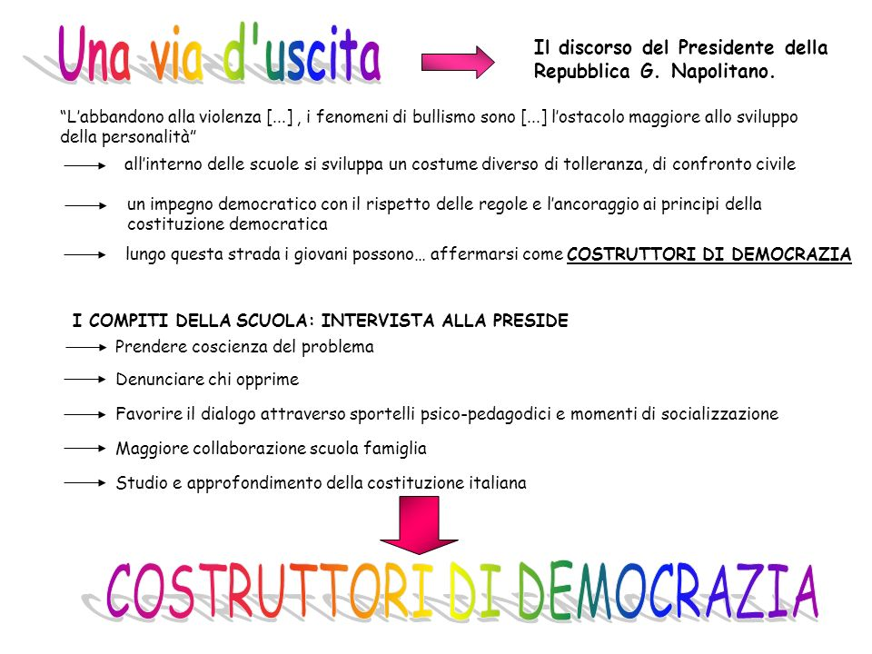 COSTRUTTORI DI DEMOCRAZIA