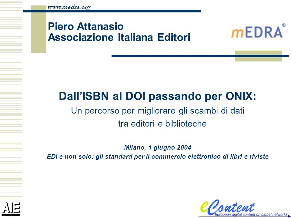 Piero Attanasio Associazione Italiana Editori