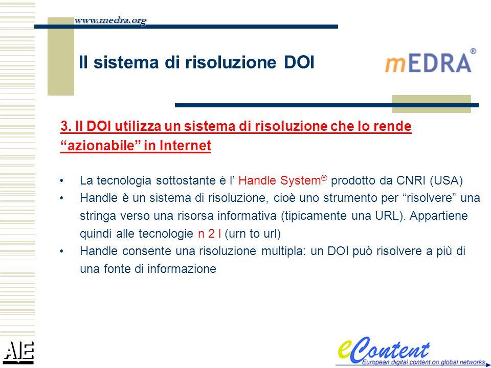 Il sistema di risoluzione DOI