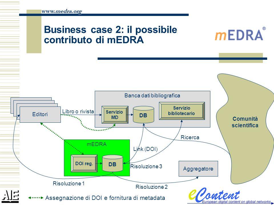 Business case 2: il possibile contributo di mEDRA