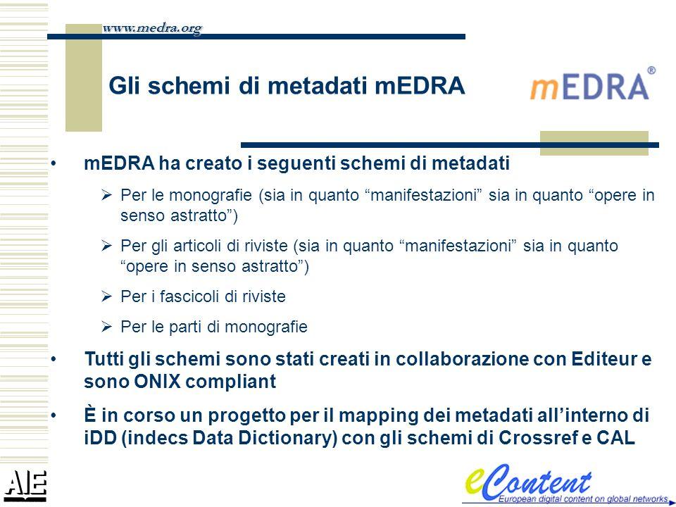 Gli schemi di metadati mEDRA