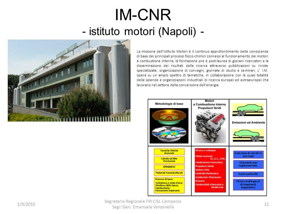 IM-CNR - istituto motori (Napoli) -
