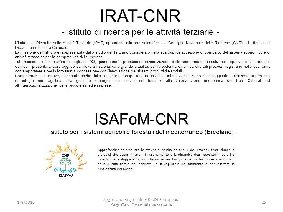 IRAT-CNR - istituto di ricerca per le attività terziarie -