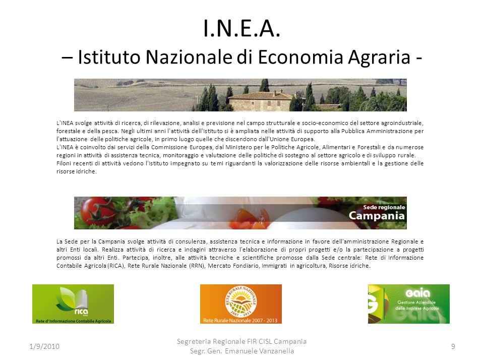 I.N.E.A. – Istituto Nazionale di Economia Agraria -