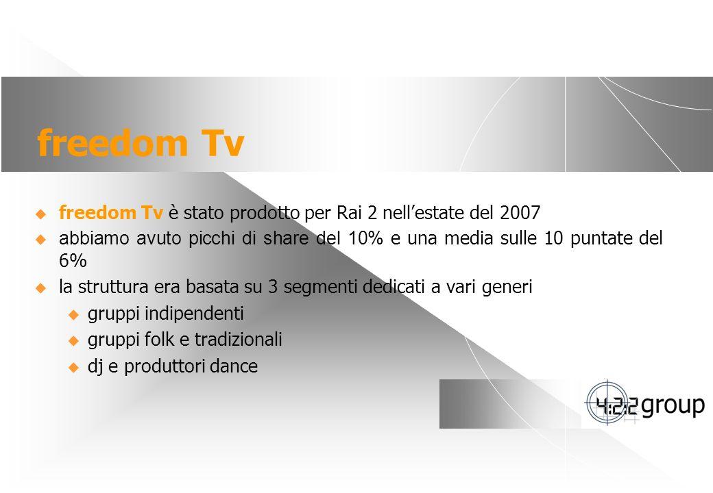 freedom Tv freedom Tv è stato prodotto per Rai 2 nell'estate del 2007