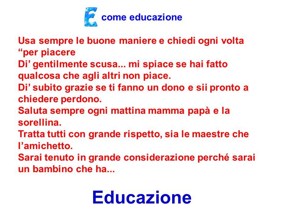 Educazione come educazione