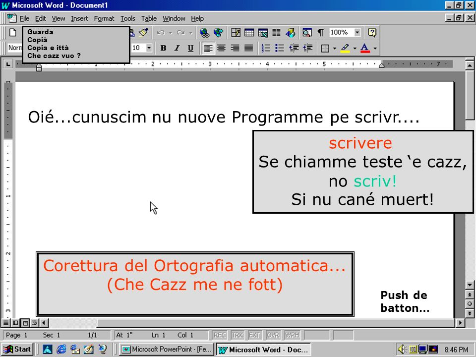 Oié...cunuscim nu nuove Programme pe scrivr....