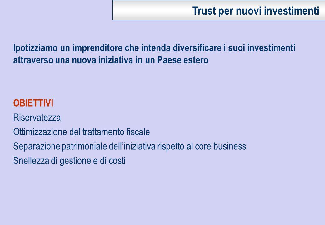 Trust per nuovi investimenti