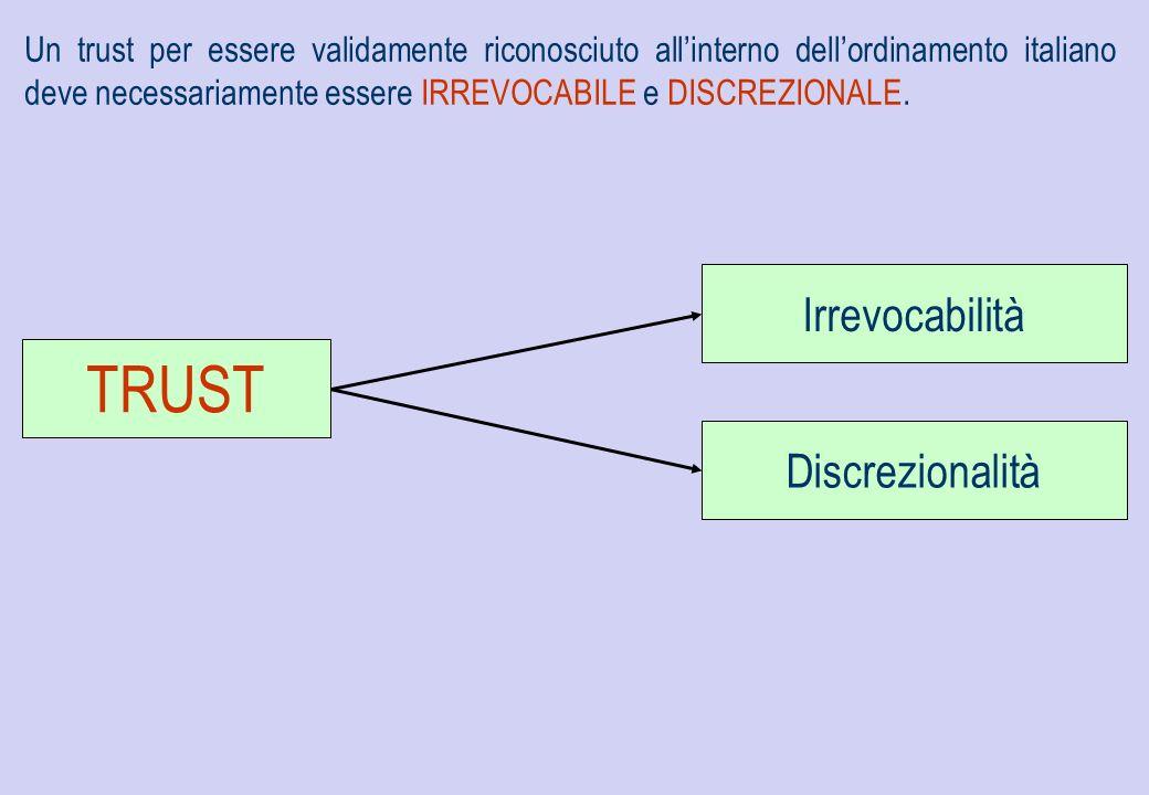 TRUST Irrevocabilità Discrezionalità