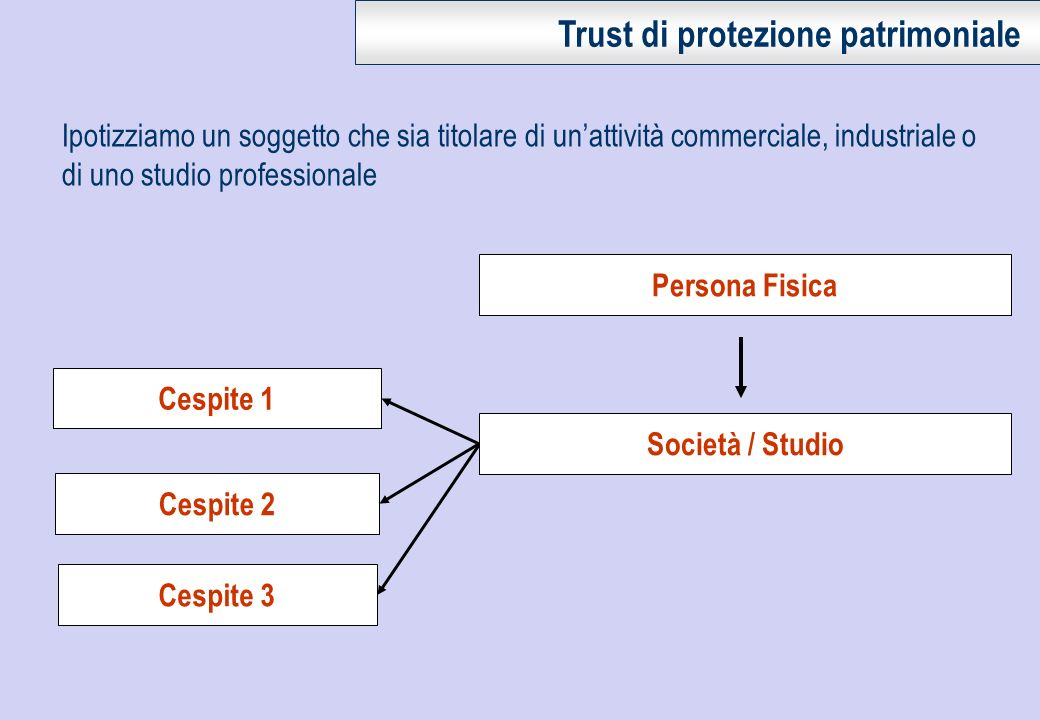Trust di protezione patrimoniale
