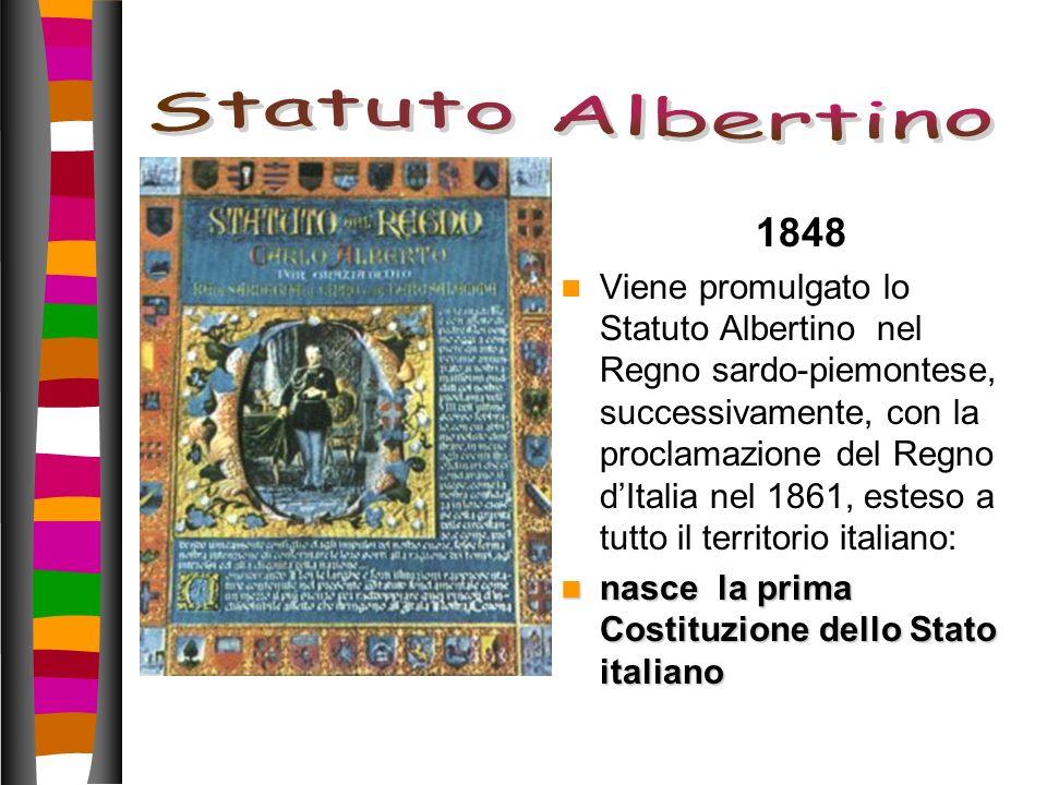 Statuto Albertino 1848.
