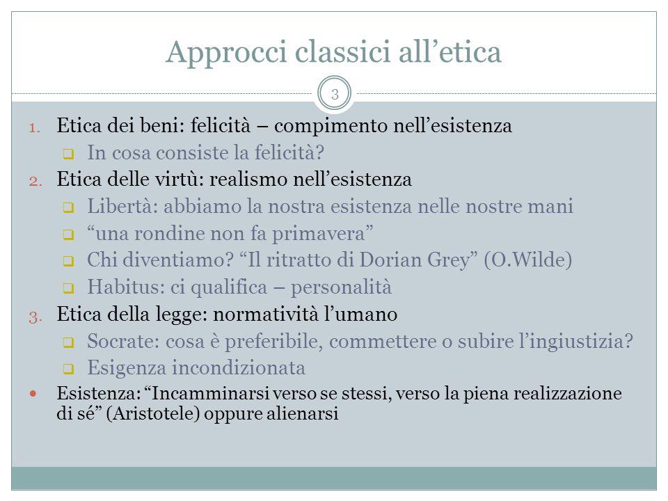 Approcci classici all'etica