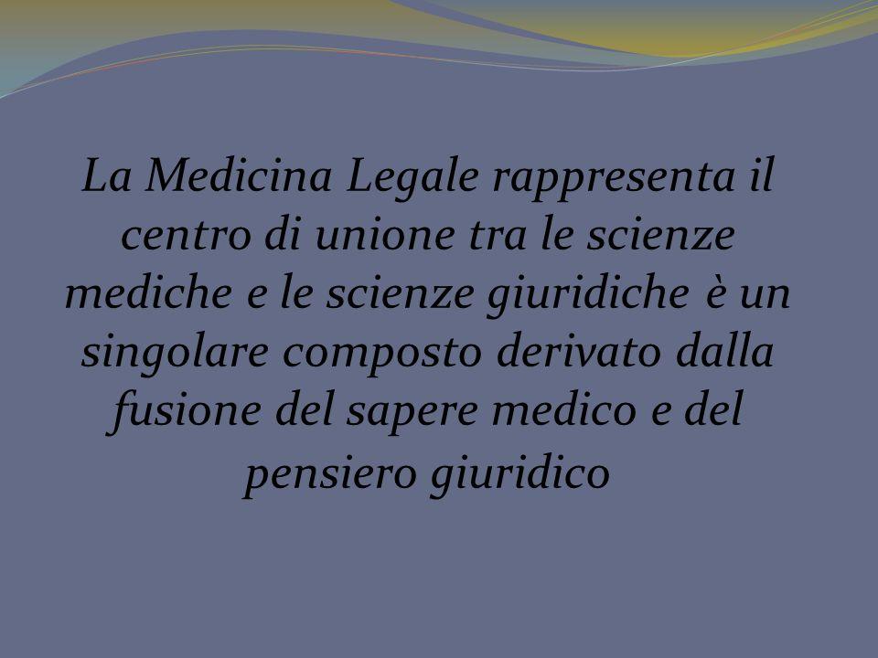 La Medicina Legale rappresenta il