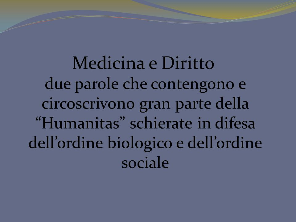 dell'ordine biologico e dell'ordine