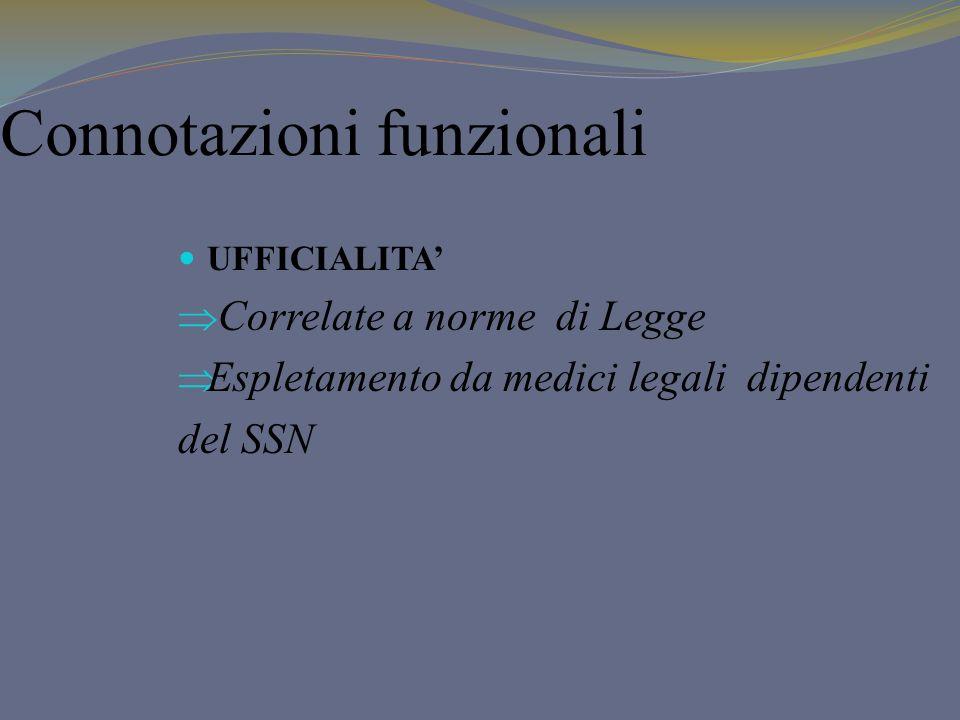 Connotazioni funzionali
