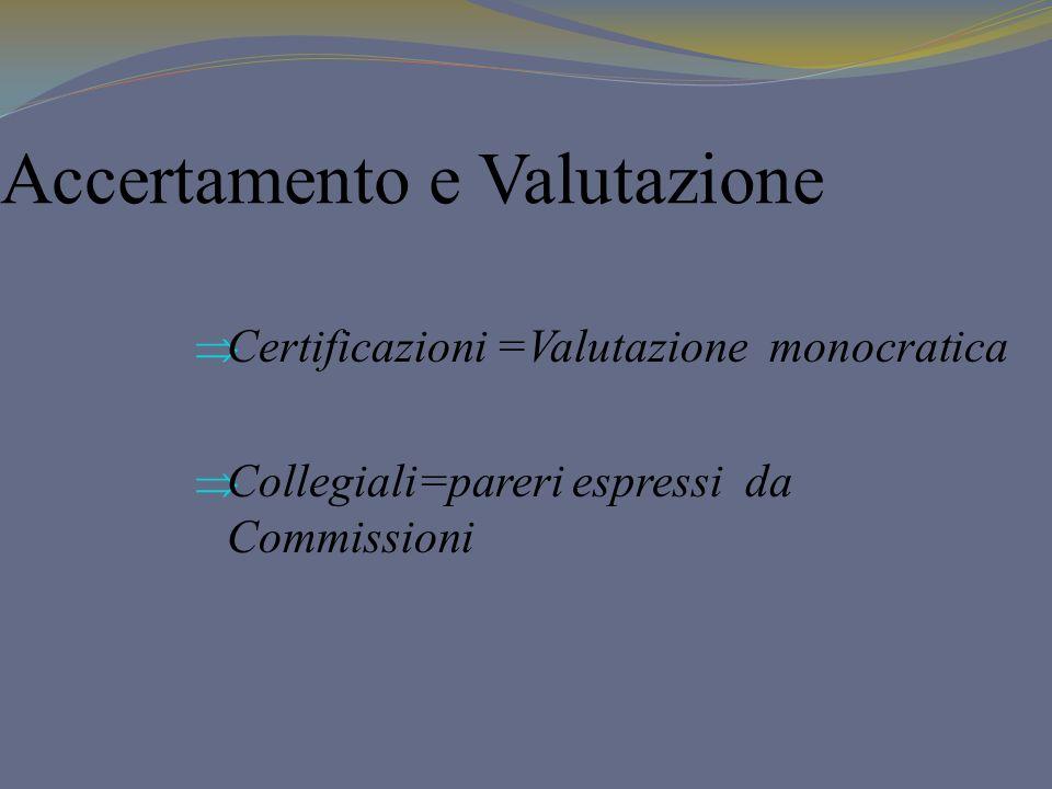 Accertamento e Valutazione