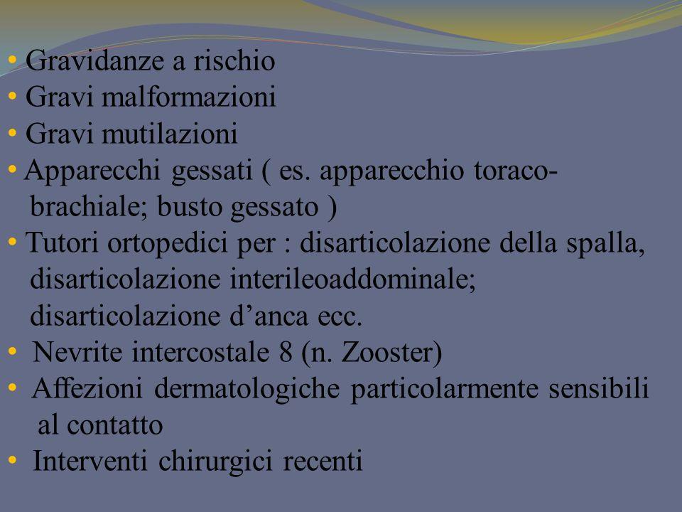 Gravidanze a rischio Gravi malformazioni. Gravi mutilazioni. Apparecchi gessati ( es. apparecchio toraco-