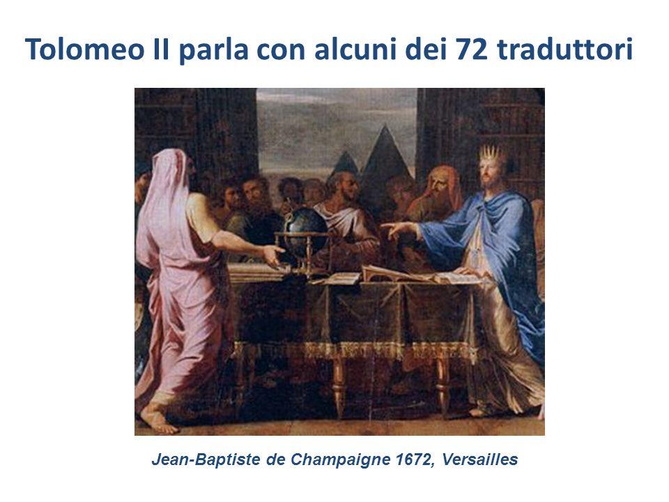 Tolomeo II parla con alcuni dei 72 traduttori