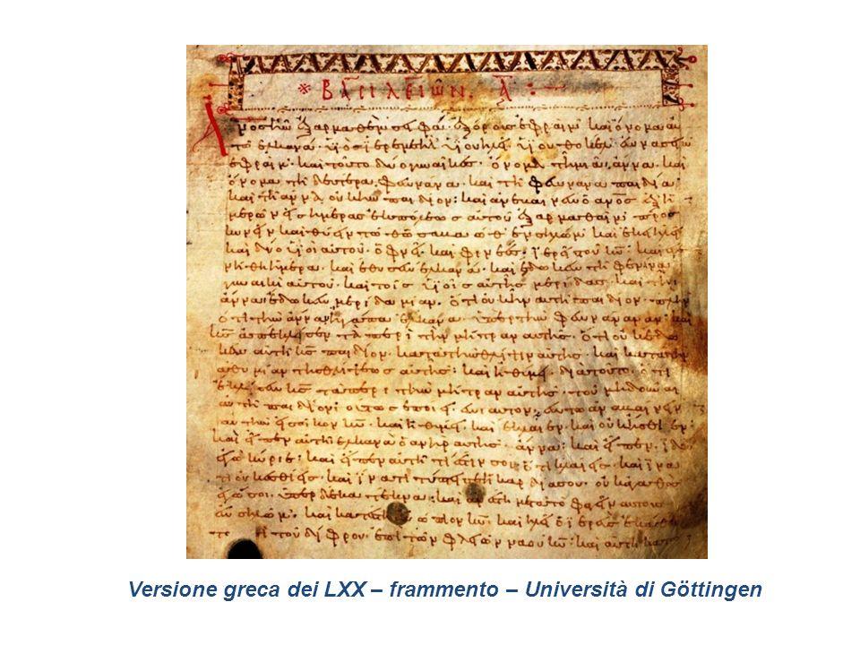 Versione greca dei LXX – frammento – Università di Göttingen