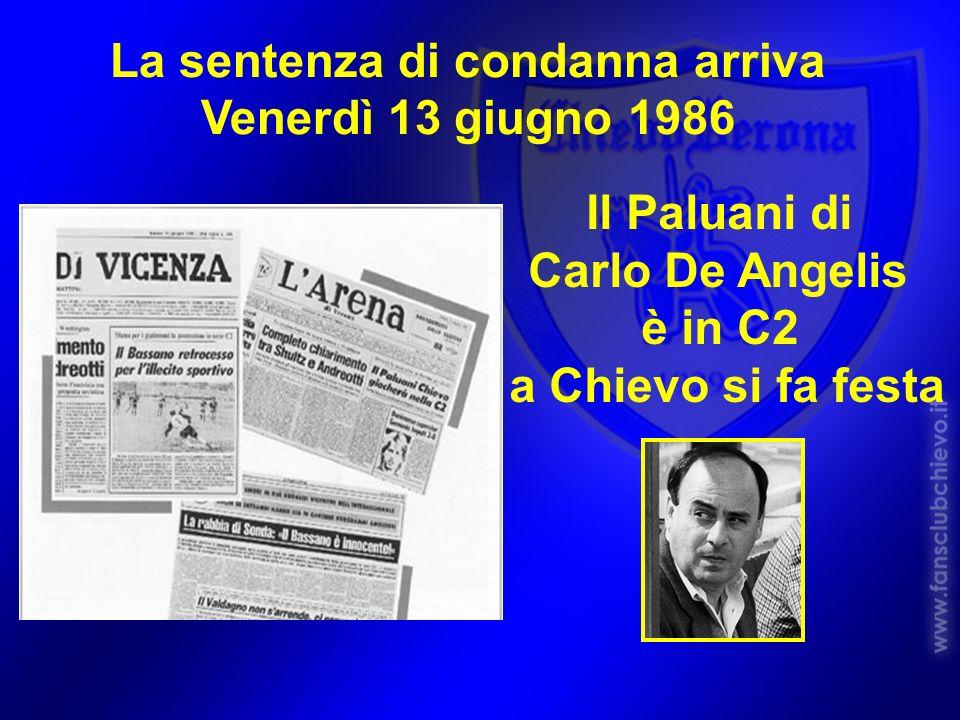 La sentenza di condanna arriva Venerdì 13 giugno 1986