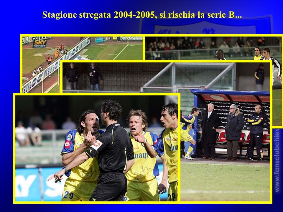 Stagione stregata 2004-2005, si rischia la serie B...