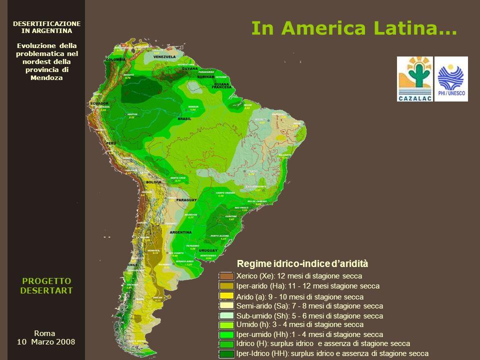 In America Latina... Regime idrico-indice d'aridità