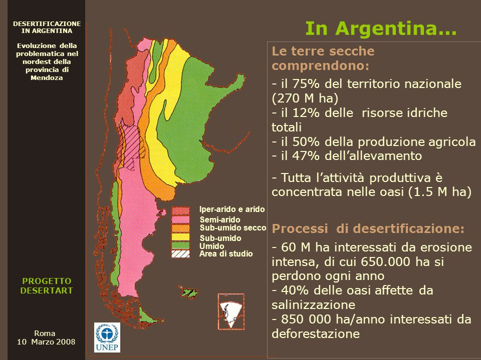 In Argentina... Le terre secche comprendono: