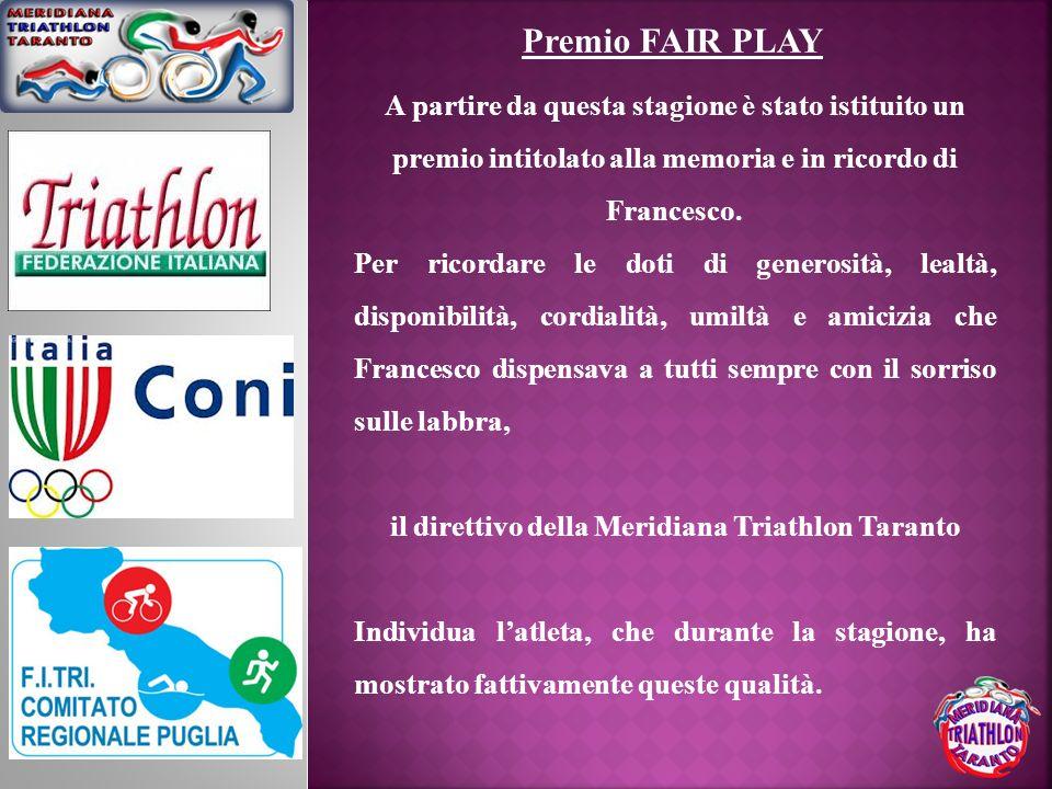 il direttivo della Meridiana Triathlon Taranto