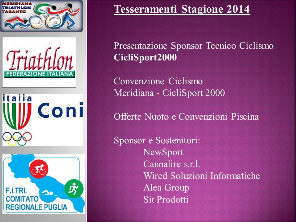 Tesseramenti Stagione 2014