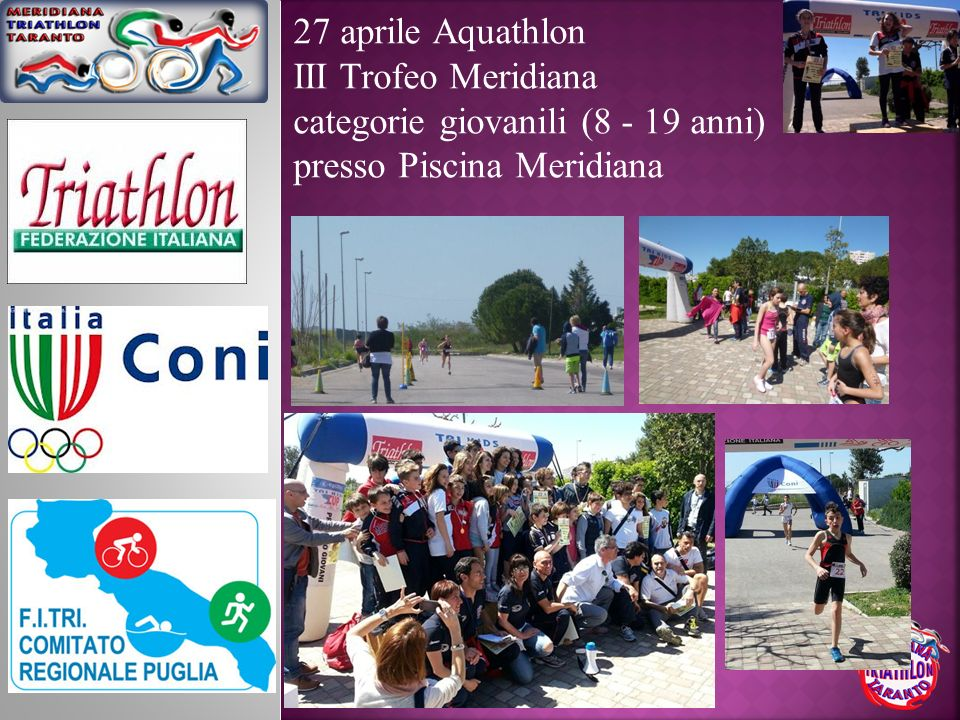 27 aprile AquathlonIII Trofeo Meridiana.