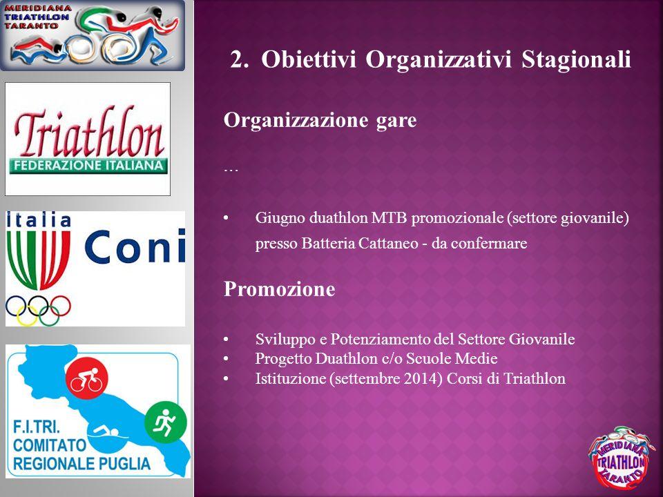 Obiettivi Organizzativi Stagionali