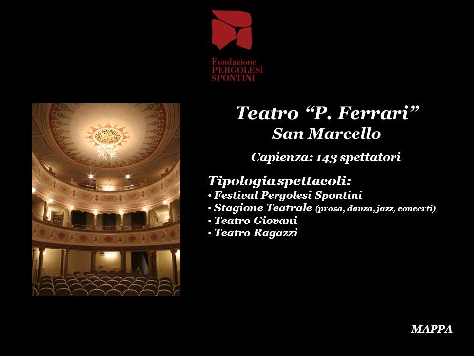 Teatro P. Ferrari San Marcello