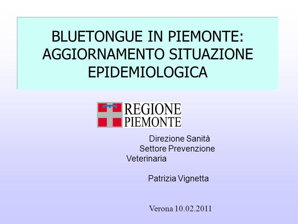 BLUETONGUE IN PIEMONTE: AGGIORNAMENTO SITUAZIONE EPIDEMIOLOGICA