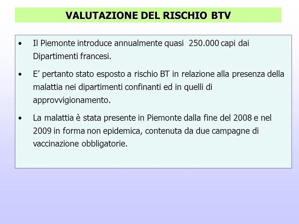 VALUTAZIONE DEL RISCHIO BTV